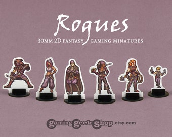 Player Character Rogues 30mm Role-playing Game Miniatures