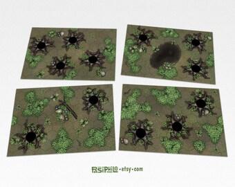 tabletop rpg forest hex grid terrain tiles set 2 etsy