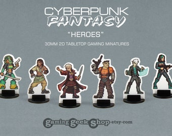 Cyberpunk-Fantasy Characters 30mm Role-playing Game Miniatures