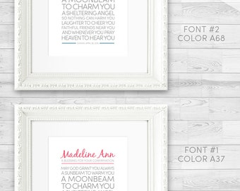 Catholic Confirmation Present, First Communion, Baptism. Irish Blessing Printable Personalized for Boy or Girl. Name Date Size Color+ Font