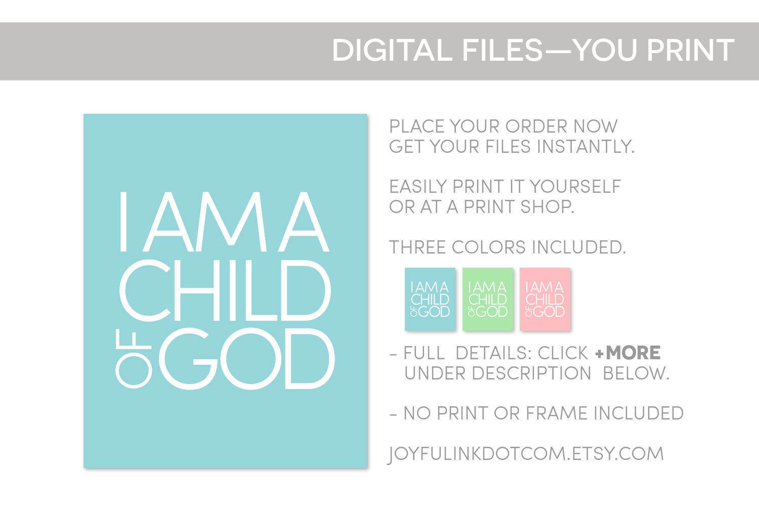 Child of God PRINTABLE. Christian Baby Gift. Downloadable | Etsy