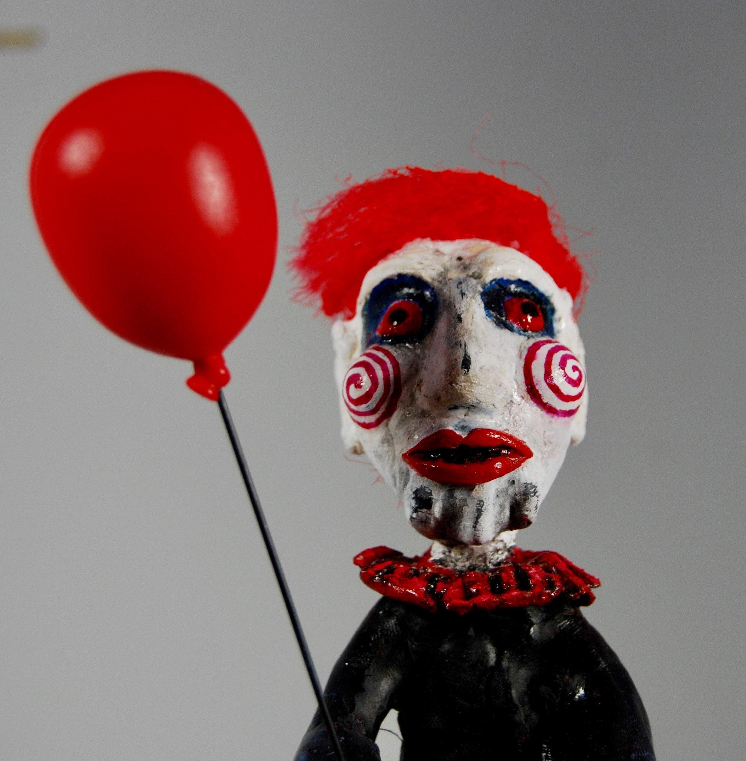 Jigsaw Creepy Clown/ Scary Movie Inspired Clown/Fear of Clowns