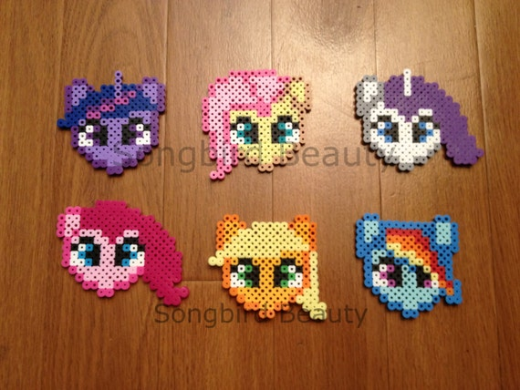 My Little Pony Perler Beads Geekery Magnet Ornament Etsy