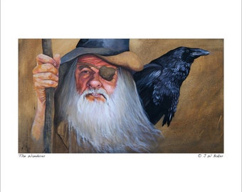 "8x10 Print ""The Wanderer"" - Fantasy Art Illustration Reproduction"