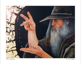 "8x10 Print ""The Conjurer"" - Fantasy Art Illustration Reproduction"