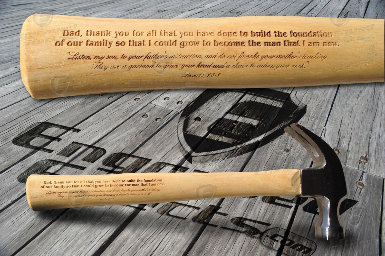 Gravierte Danke Papa Hammer mit Bibel-Vers Vatertagsgeschenk | Etsy