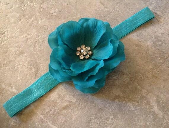 bandeau bleu sarcelle nouveau n serre t te bandeau de etsy. Black Bedroom Furniture Sets. Home Design Ideas