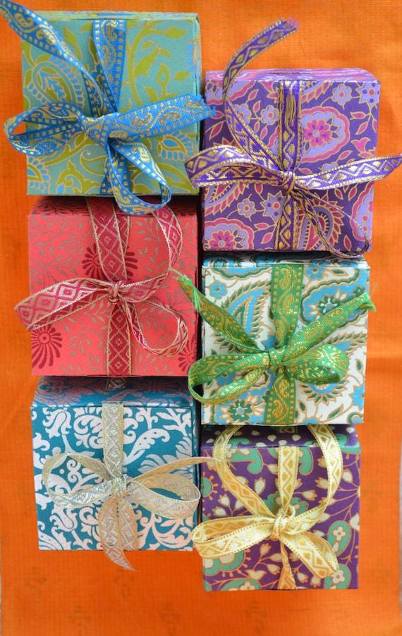 Gift Box With Ribbon Wedding Gift Box Indian Wedding Favor Etsy