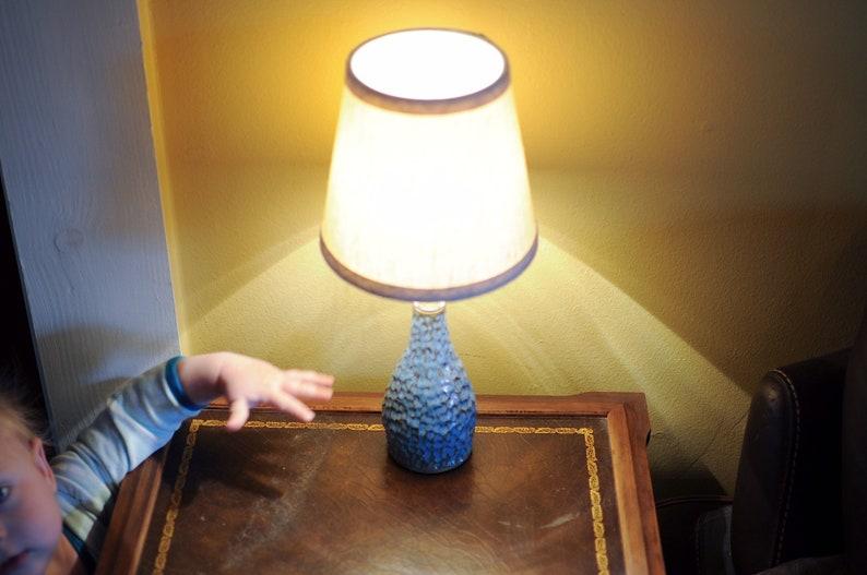 Handmade Carved Ceramic Lamp
