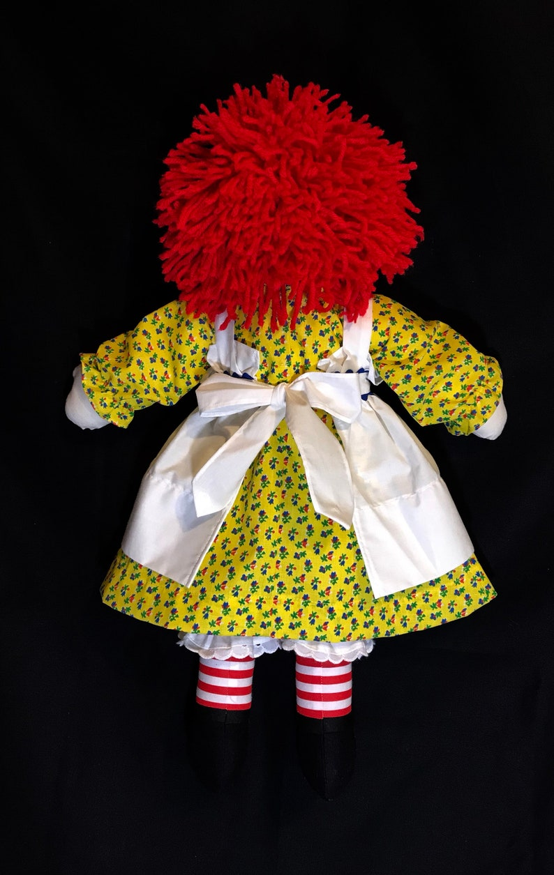 4aa5b2236de 20 inch Raggedy Ann Doll with Red hair Yellow dress with dark