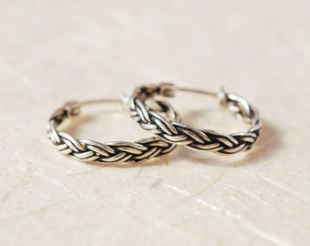 Unique Mothers Day Gift For Mom, Unique Hoop Earrings, Sterling Silver Hoop Earrings, Gift For Mom, Gift For Grnadma, Gift For Wife