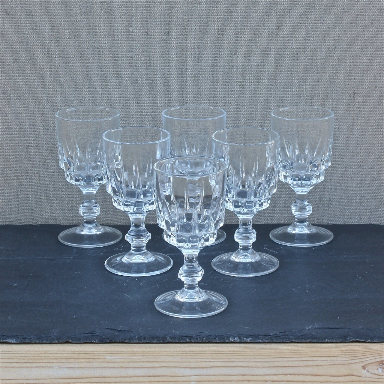 6 verres fran ais vintages verre ap ritif digestif ap ritif etsy. Black Bedroom Furniture Sets. Home Design Ideas