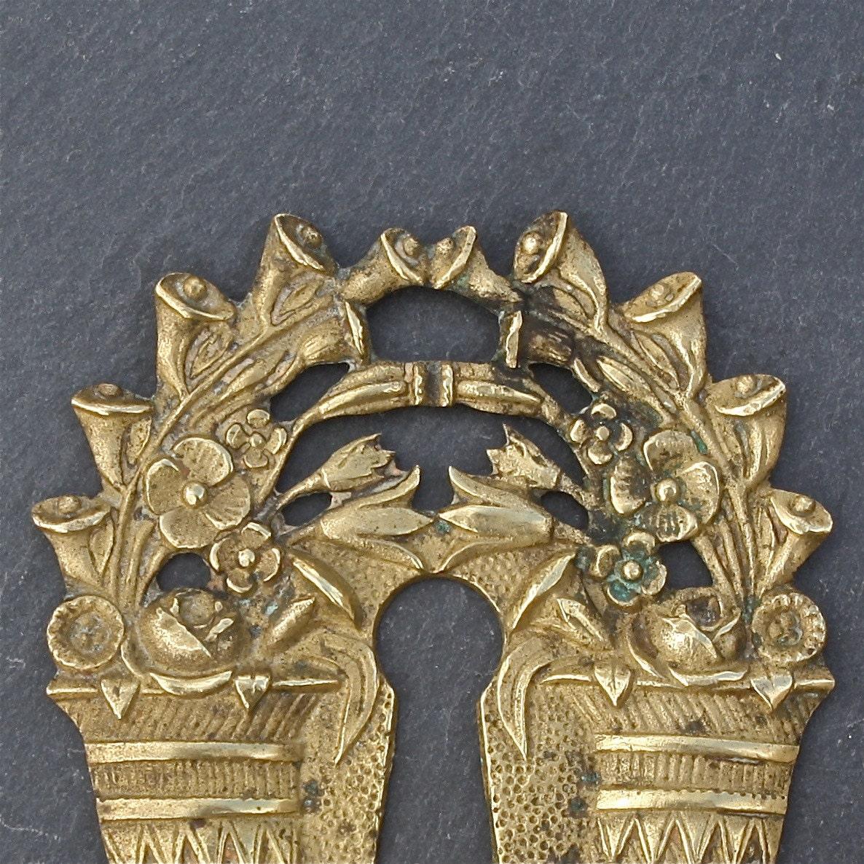Antike französische Schlüsselloch Abdeckung Rosette Füllhorn