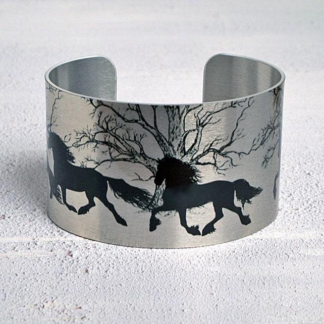 Horse cuff bracelet