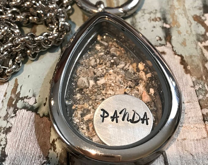 Rainbow bridge cremation ash memorial locket ~ personalized with name and picture