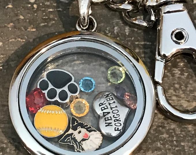 Border collie memorial locket ~ pet loss ~ rainbow bridge