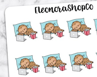 SLOTH LAZY DAY Stickers — A193
