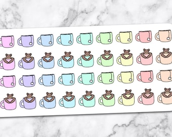 CUP of TEA/COFFEE stickers — pw05