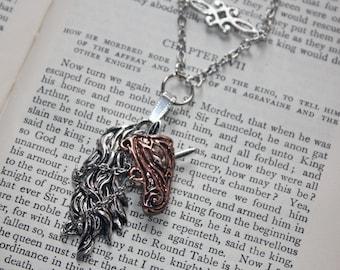 Unicorn Pendant, King Arthur, Knight Jewellery, Joust, Necklace