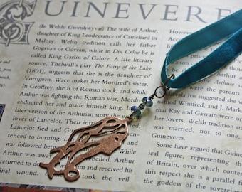 Guinevere, Velvet Ribbon Necklace, Arthurian, Pre-Raphaelite Style