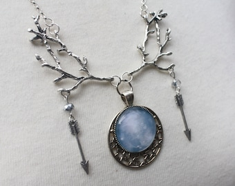 Moon Necklace and Earring Set - Artemis goddess jewelry