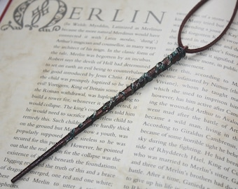 Wizard Necklace, Wand, Magical Jewellery, Myths and Legends, Merlin, Arthurian Legend