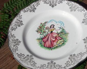 Crinoline Lady Tea Plate