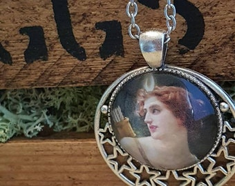 Goddess Necklace, Artemis, Witch Jewellery, Classical art