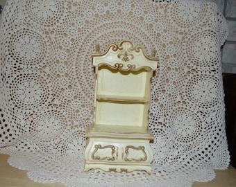 SALE - Vintage Hard Plastic Doll Armoire Furniture