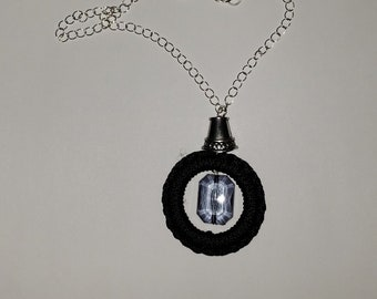 Choker length Black and Grey Necklace