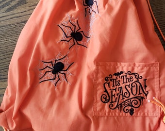 Tis the Season Halloween Drawstring Backpack
