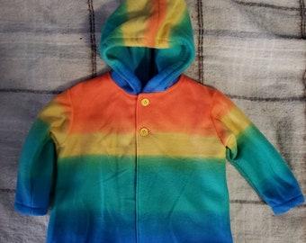 Infant fleece hooded jacket hoodie
