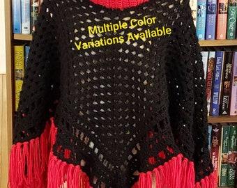 Women's Hand Crochet Poncho
