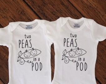 400ab3b17 Two Peas in a Pod- Twins Onesie Set
