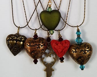 Valentine Hearts Necklaces