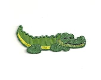 Miniature Sized Alligator Croc Sew On Patch Set.