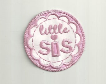 Little Sis Patch, Any Color Combo! Custom Made!
