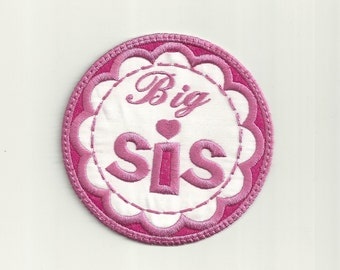Big Sis Patch, Any Color Combo! Custom Made!