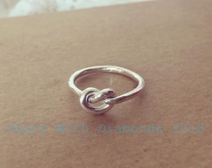 Sterling silver knot ring valentines