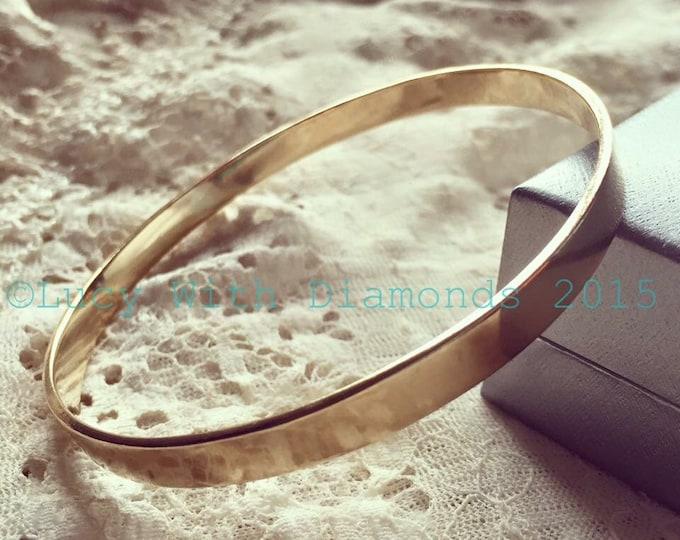9ct yellow gold bangle solid gold bangle