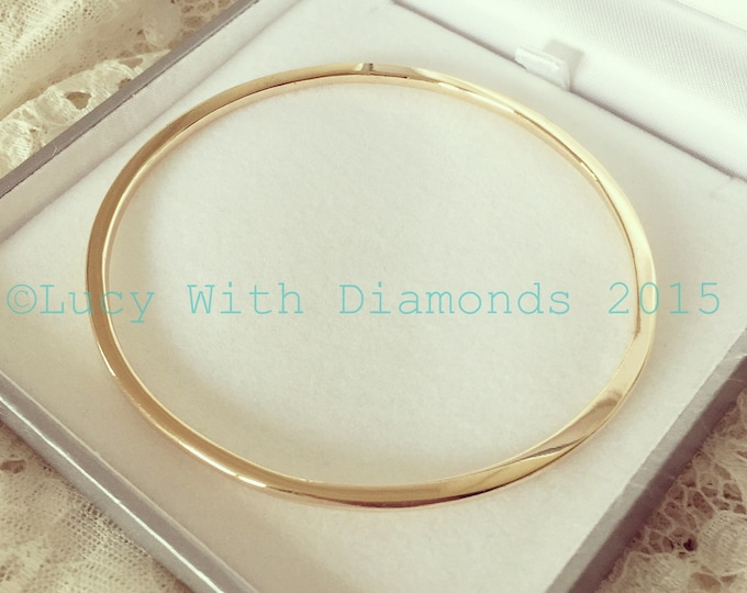 9ct yellow gold bangle solid gold bangle polished finish bangle
