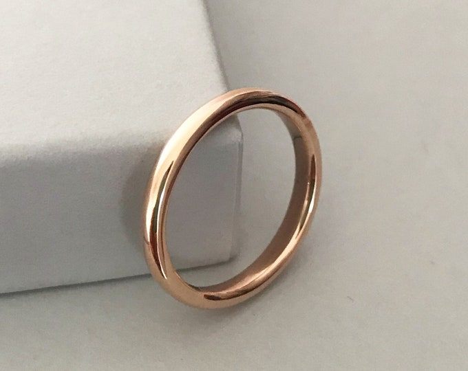 9ct Rose Gold Wedding Ring