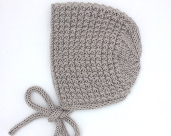 Inga Bonnet in Pebble  - Made to Order