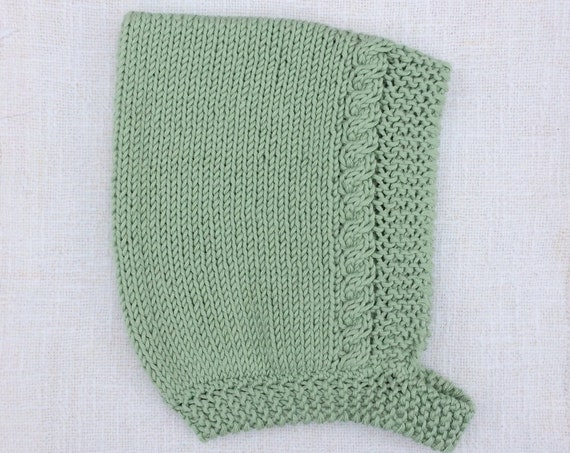 Organic Cotton Cable Pixie Hat - Made to Order in 6 Colours and 5 Sizes