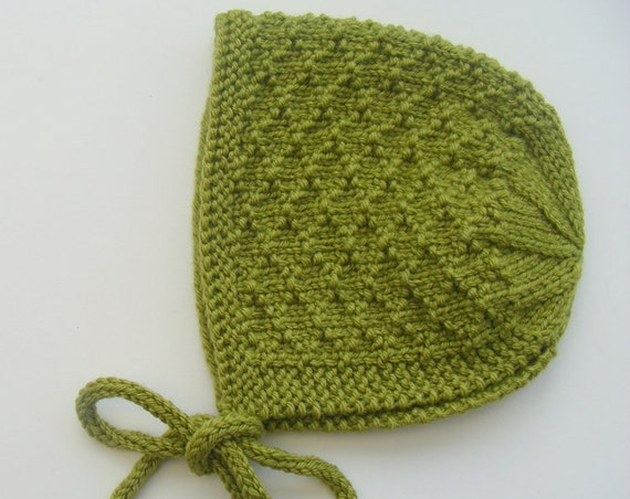 Mossie Baby Bonnet - Green - Made to Order