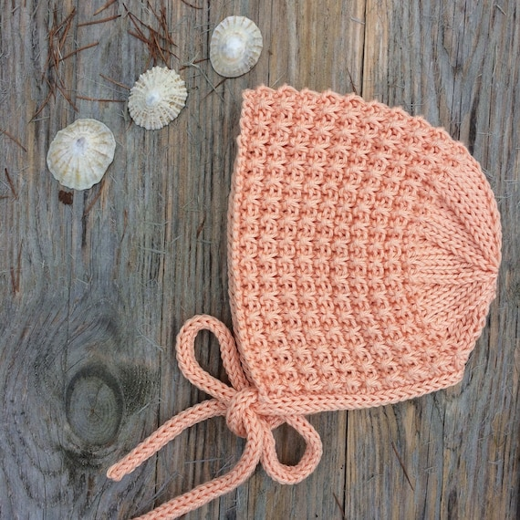 Pima Cotton Inga Bonnet in Peach - Made to Order