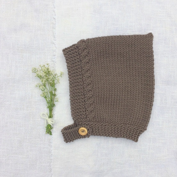 Merino Wool Cable Knit Pixie Hat - Mocha