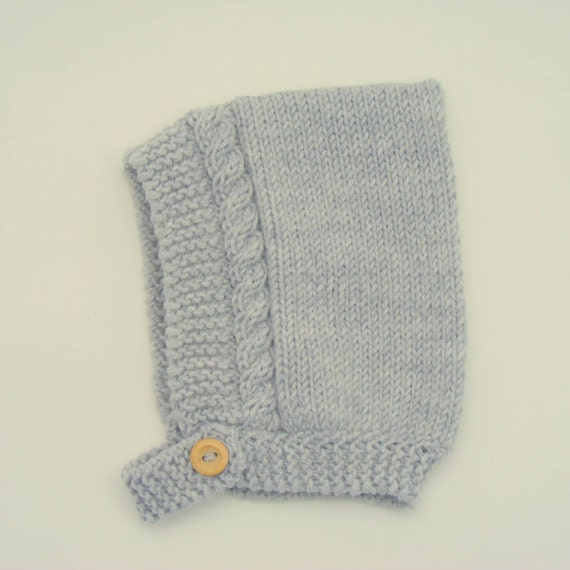Merino Wool Cable Knit Pixie Hat in Grey - All Sizes - Ready to Ship
