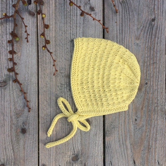 Organic Cotton Tibbie Bonnet - Made to Order - 6 Colours & 5 Sizes