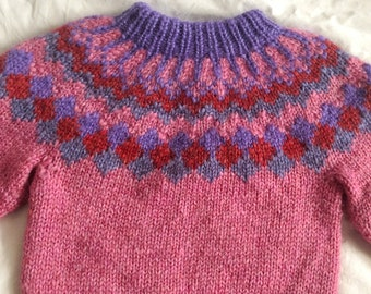 Icelandic sweater, lopapeysa, Icelandic wool, children sweater